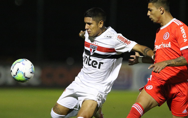 Em jogo difícil pelo Brasileiro Sub-20, São Paulo e Inter empatam